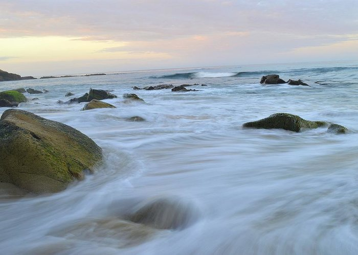 Nature Greeting Card featuring the photograph Early Morning Seas by Tristan Cota