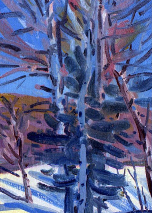 Aspens Greeting Card featuring the painting Early Spring Melt by Donald Maier