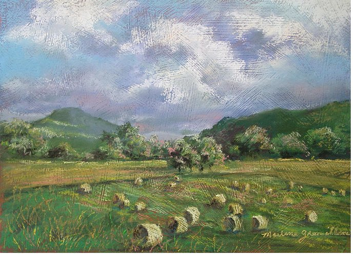 Pastel Greeting Card featuring the painting Early Summer Cutting by Marlene Gremillion