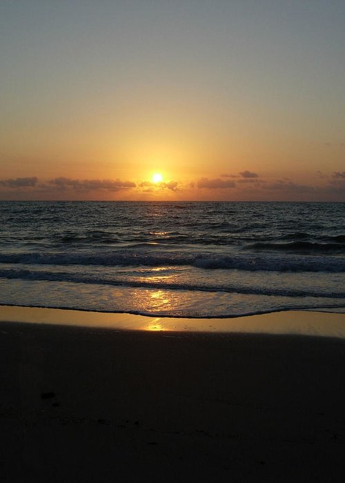 Sunrise Greeting Card featuring the photograph Early Sunrise Atlantic Ocean by Stephanie H Johnson