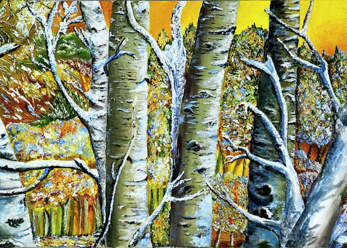 Landscape Greeting Card featuring the painting Early Winter by Terry R MacDonald