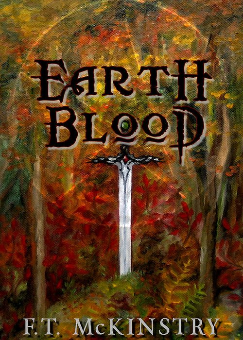 Cover Art Greeting Card featuring the painting Earth Blood Cover Art by FT McKinstry
