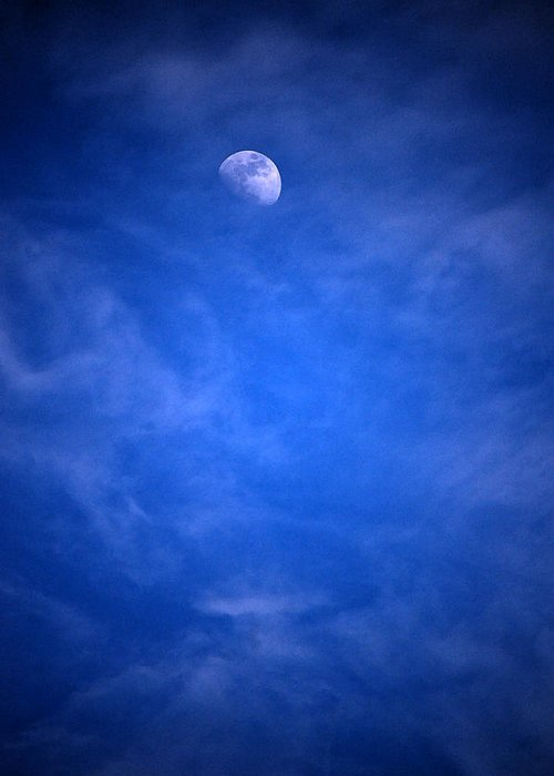 Moon Greeting Card featuring the photograph Earth's Neighbor by Jame Hayes