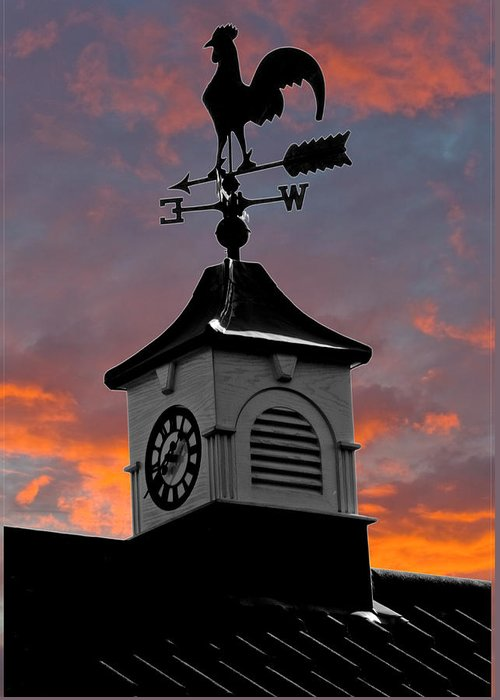 Clock Greeting Card featuring the photograph East By South by Brian Roscorla