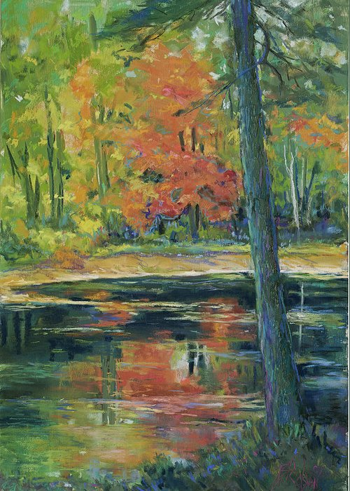 Fall Greeting Card featuring the painting East Coast Autumn by Billie Colson