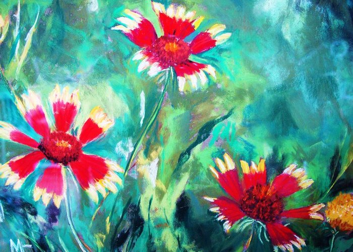 Flowers Greeting Card featuring the painting East Texas Wild Flowers by Melinda Etzold