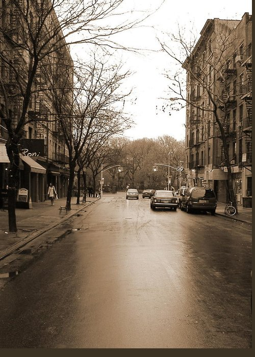 East Village Greeting Card featuring the photograph East Village In Winter by Utopia Concepts