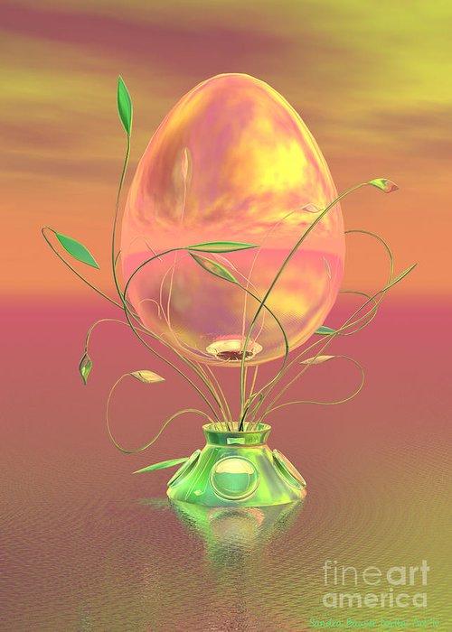 Easter Greeting Card featuring the digital art Easter Egg by Sandra Bauser Digital Art