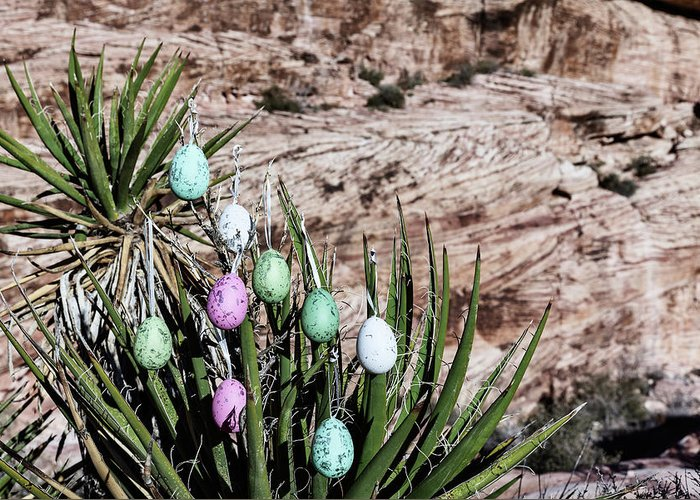 Evgeniya Lystsova Greeting Card featuring the photograph Easter Eggs On The Tree by Evgeniya Lystsova