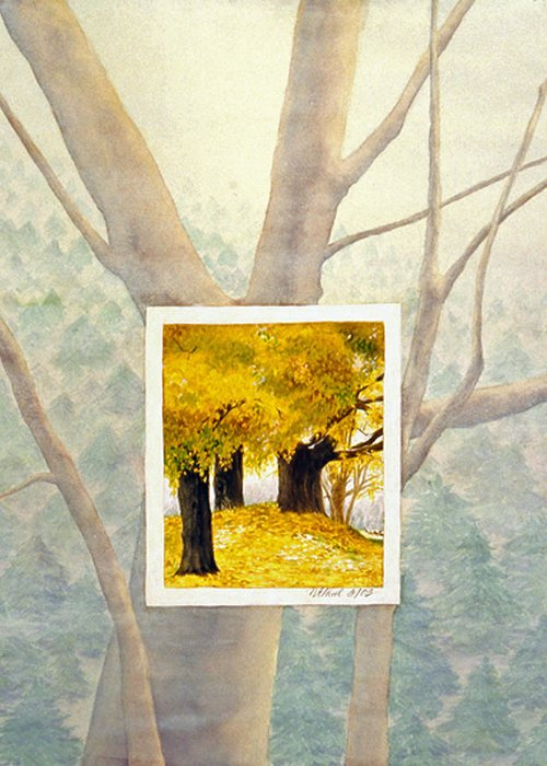 Autumn Greeting Card featuring the painting Eastern Autumn by Nancy Ethiel