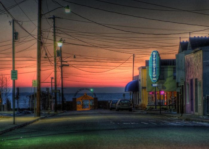 Hdr Greeting Card featuring the photograph Easy Street by E R Smith