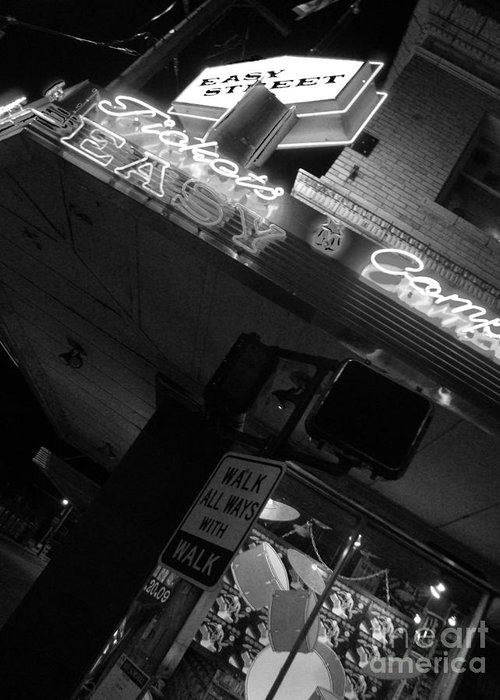 Easy Street Records Greeting Card featuring the photograph Easy Street by Nathan Brend