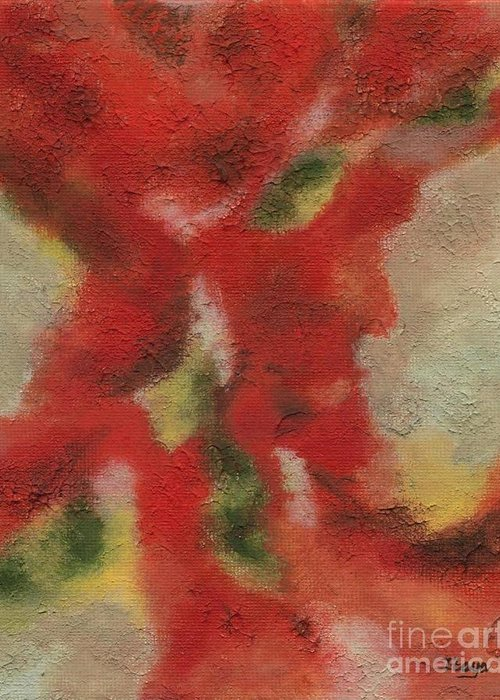 Abstract Greeting Card featuring the painting Ebb And Flow by Itaya Lightbourne