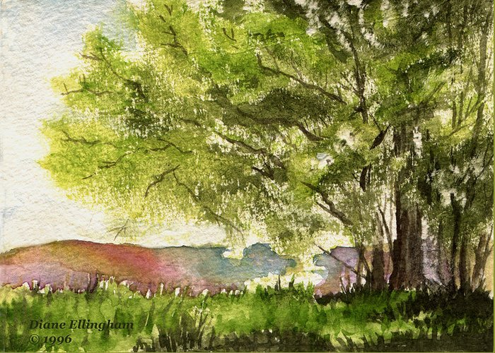 Nature Greeting Card featuring the painting Echoes Of Summer by Diane Ellingham