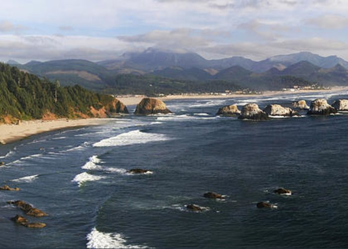 Ocean Greeting Card featuring the photograph Ecola Vista by Winston Rockwell