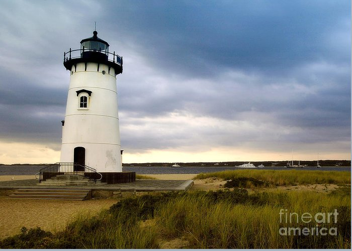 Edgartown Lighthouse Greeting Card featuring the photograph Edgartown Lighthouse Cape Cod by Matt Suess