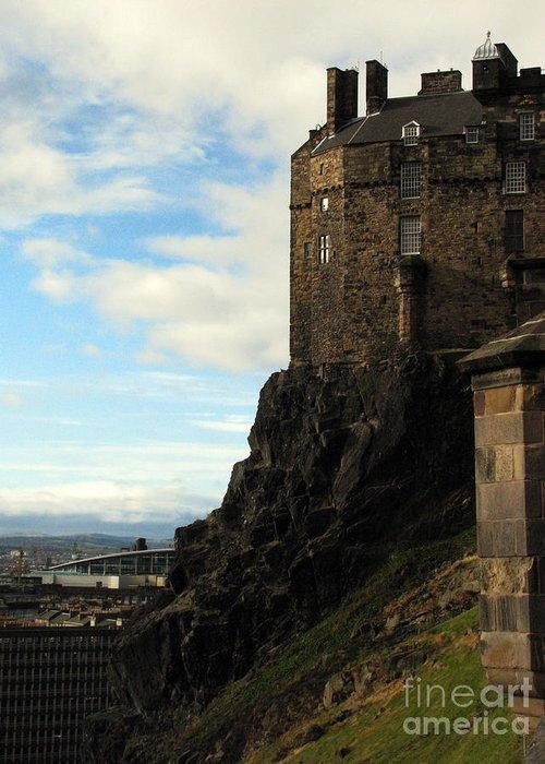Castle Greeting Card featuring the photograph Edinburgh Castle by Amanda Barcon