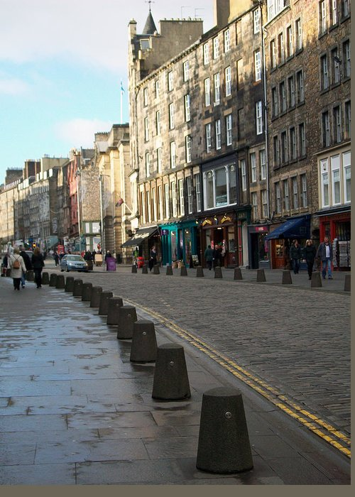Scotland Greeting Card featuring the photograph Edinburgh Royal Mile Street by Munir Alawi
