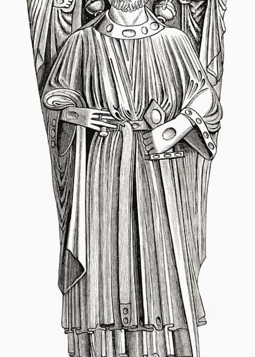 Effigy Greeting Card featuring the drawing Effigy Of King John On His Tomb In by Vintage Design Pics
