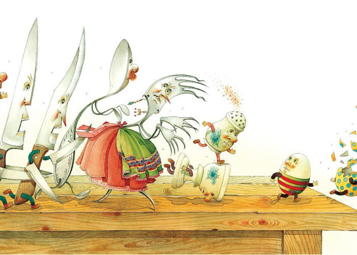Eggs Easter Liberty Greeting Card featuring the painting Eggs Liberty by Kestutis Kasparavicius