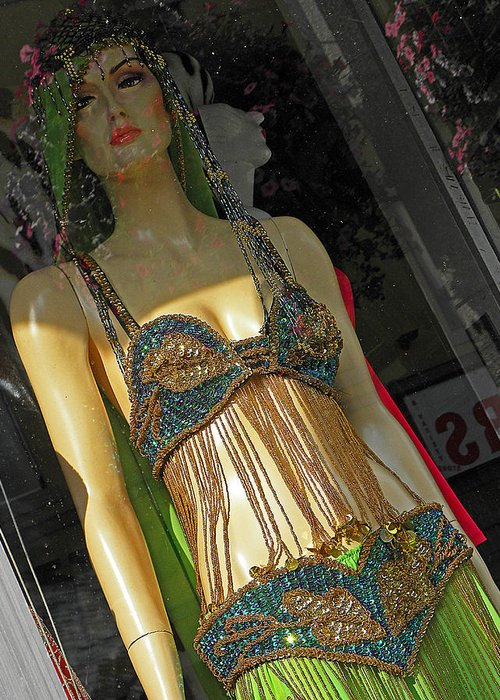 Mannequin Greeting Card featuring the photograph Egyptian Beauty by Elizabeth Hoskinson