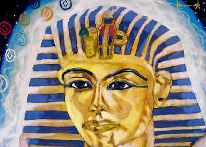 Egyptian Mysteries Greeting Card featuring the painting Egyptian Mysteries by Morten Bonnet