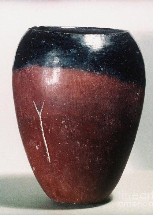 4000 B.c. Greeting Card featuring the photograph Egyptian Vase, C4000 B.c by Granger