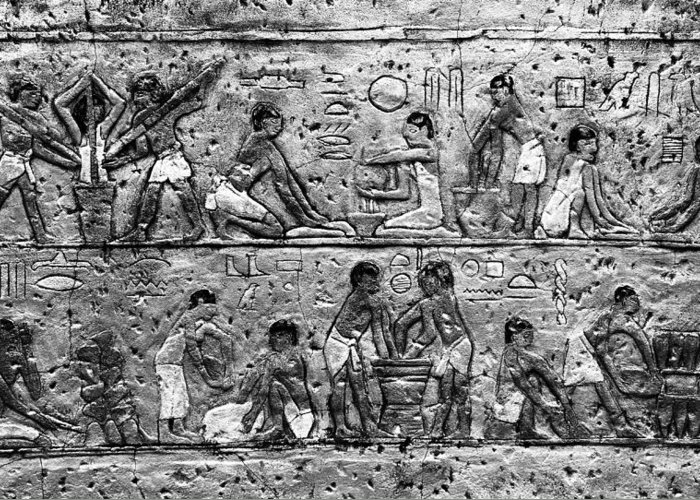 Egyptian Greeting Card featuring the photograph Egyptian Writing by David Lee Thompson