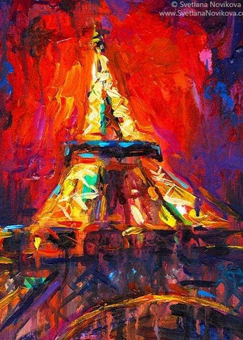 Followme Greeting Card featuring the photograph Eifell Tower By Svetlana Novikova ( All by Svetlana Novikova