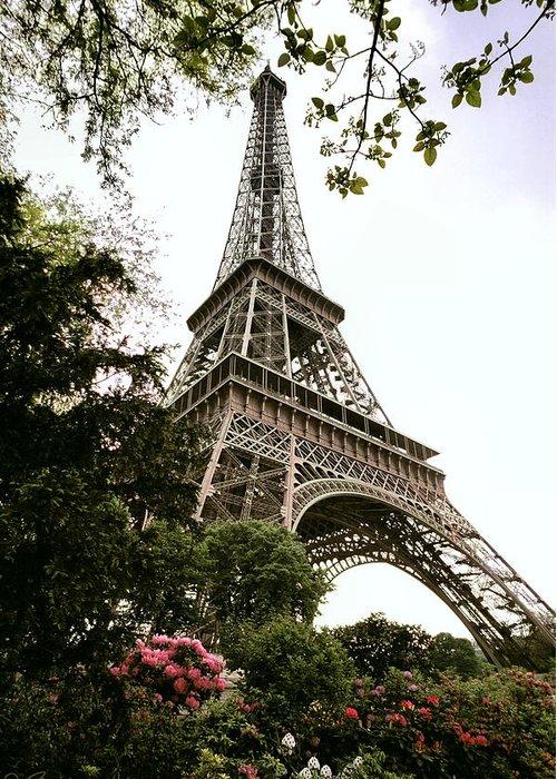 Eiffel Greeting Card featuring the photograph Eiffel Tower by Joe Bonita