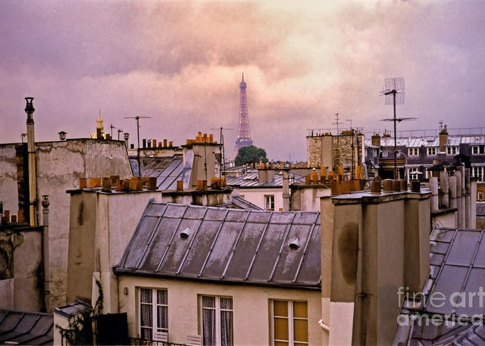 Eiffel Greeting Card featuring the photograph Eiffel Tower by Madeline Ellis