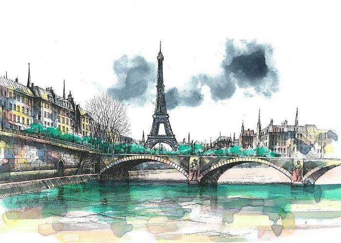Paris Paintings Greeting Cards
