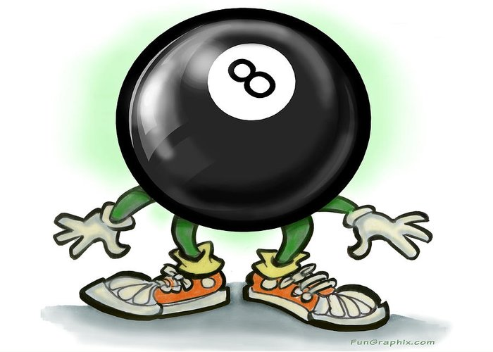 Eightball Greeting Card featuring the greeting card Eightball by Kevin Middleton