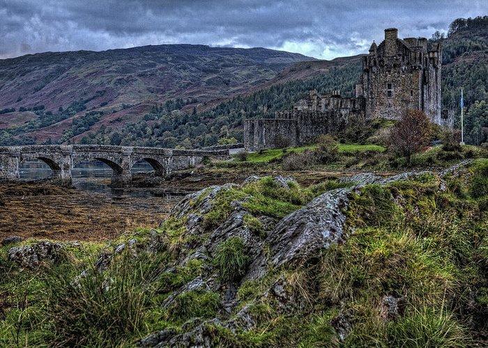 Eilean Donan Castle Greeting Card featuring the photograph Eilean Donan Castle by Jim Dohms