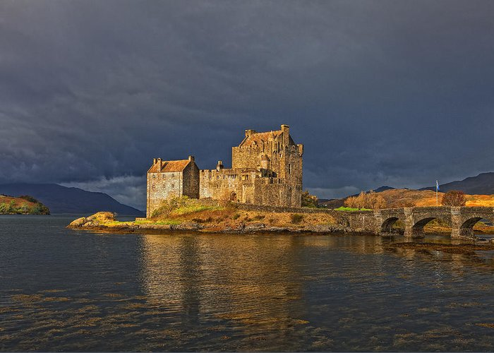 Eilean Donan Castle Greeting Card featuring the photograph Eilean Donan Castle Scotland by Jim Dohms