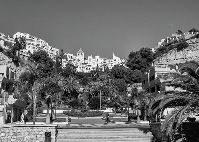 Mediterranean Greeting Card featuring the photograph El Capistrano, Nerja by John Edwards