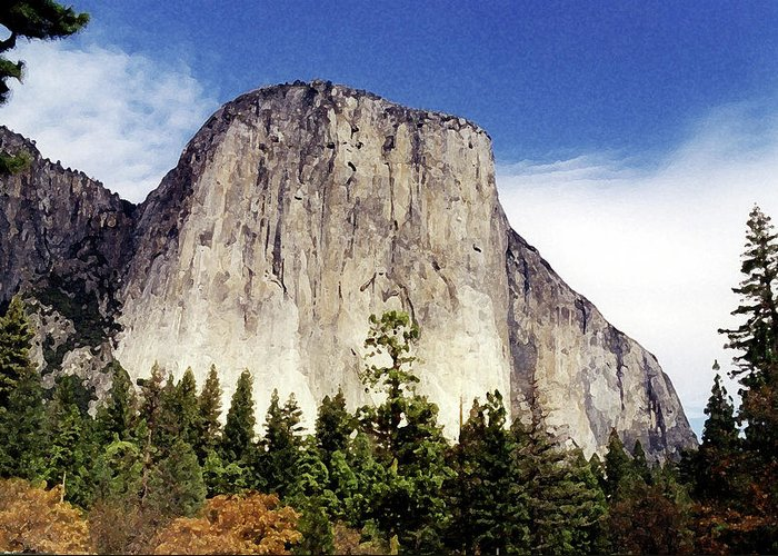 Yosemite Greeting Card featuring the photograph El Capitan by Joanne Riske