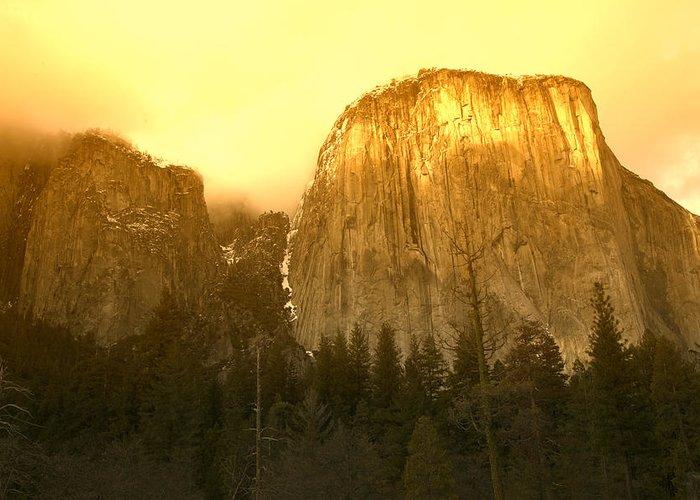 El Capitan Yosemite Valley Greeting Card featuring the photograph El Capitan Yosemite Valley by Garry Gay