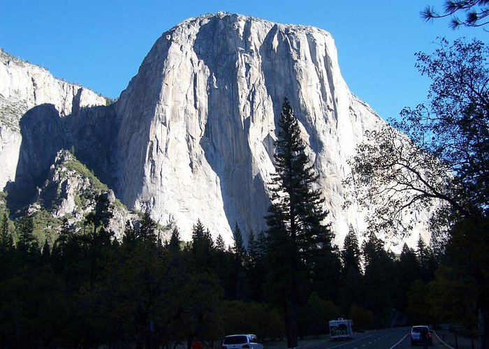 El Capitan Greeting Card featuring the photograph El Capitan Yosemite by Vijay Sharon Govender