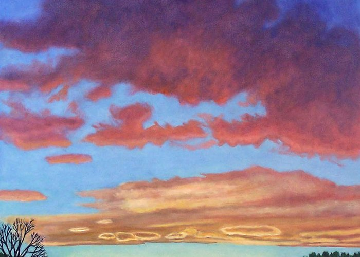 Sunset Greeting Card featuring the painting El Dorado Sunset by Brian Commerford