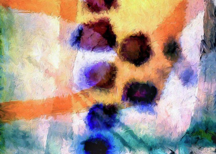 Abstract Greeting Card featuring the painting El Paso Del Tiempo by Dominic Piperata