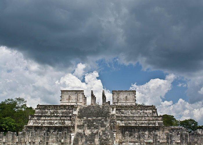 El Templo De Las Columnas Greeting Card featuring the photograph El Templo De Las Columnas 1 by Douglas Barnett