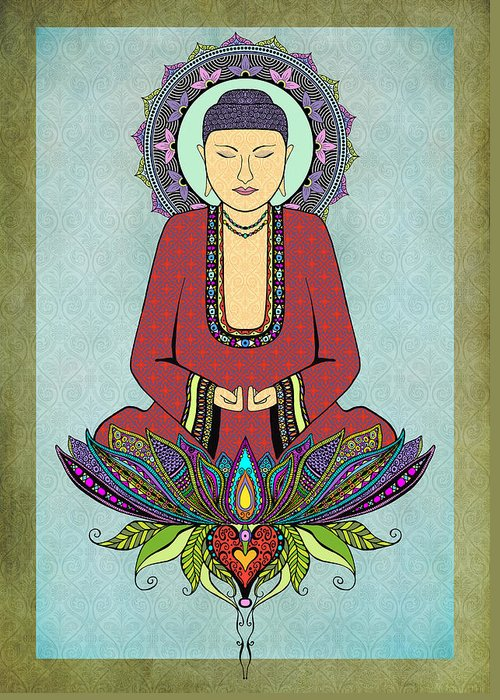Meditate Drawings Greeting Cards