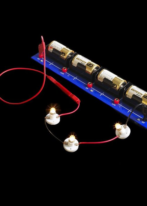 Experiment Greeting Card featuring the photograph Electrical Circuit by