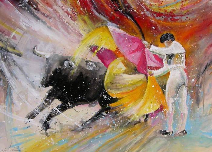 Animals Greeting Card featuring the painting Elegance by Miki De Goodaboom