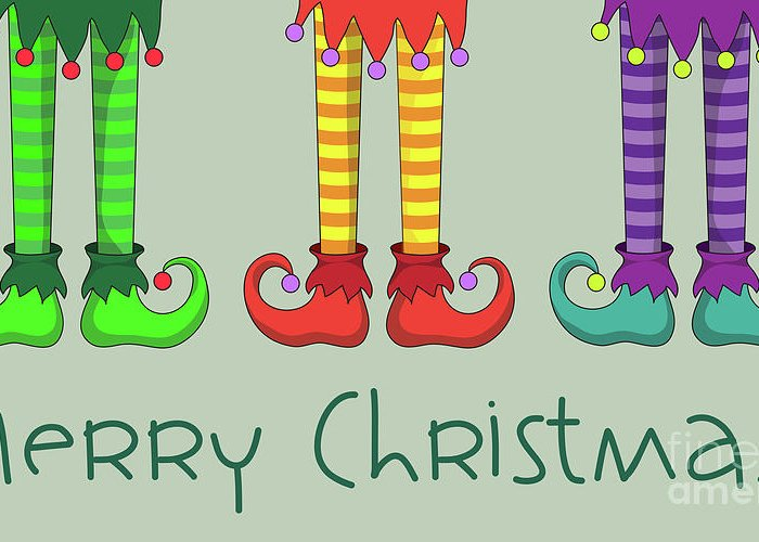 Elf Greeting Card featuring the photograph Elf Legs by Jane Rix