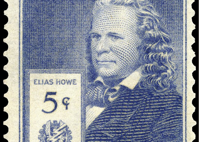 1940 Greeting Card featuring the photograph Elias Howe (1819-1867) by Granger