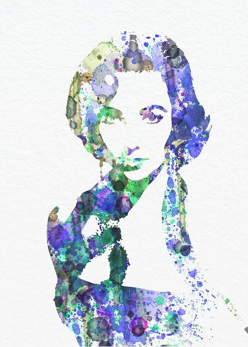 Elithabeth Taylor Posters Greeting Card featuring the digital art Elithabeth Taylor by Naxart Studio