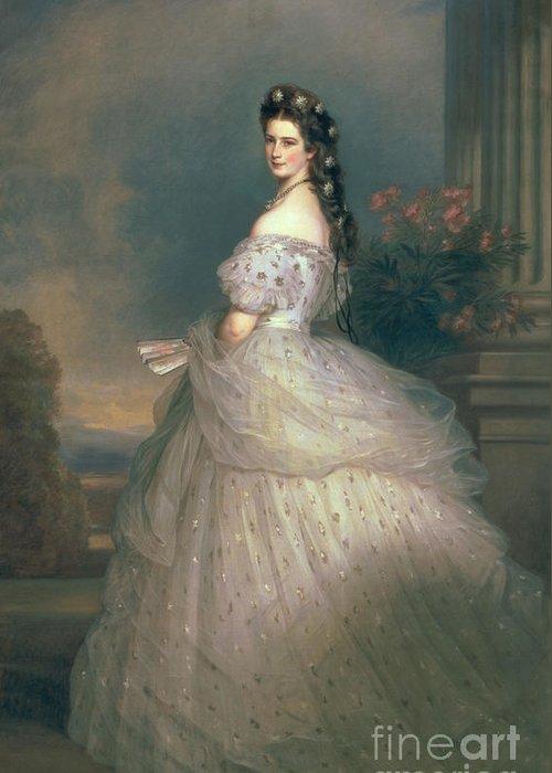 Elizabeth Greeting Card featuring the painting Elizabeth Of Bavaria by Franz Xavier Winterhalter