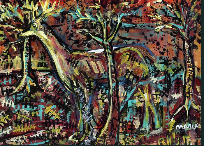 Rwjr Greeting Card featuring the painting Elusive by Robert Wolverton Jr